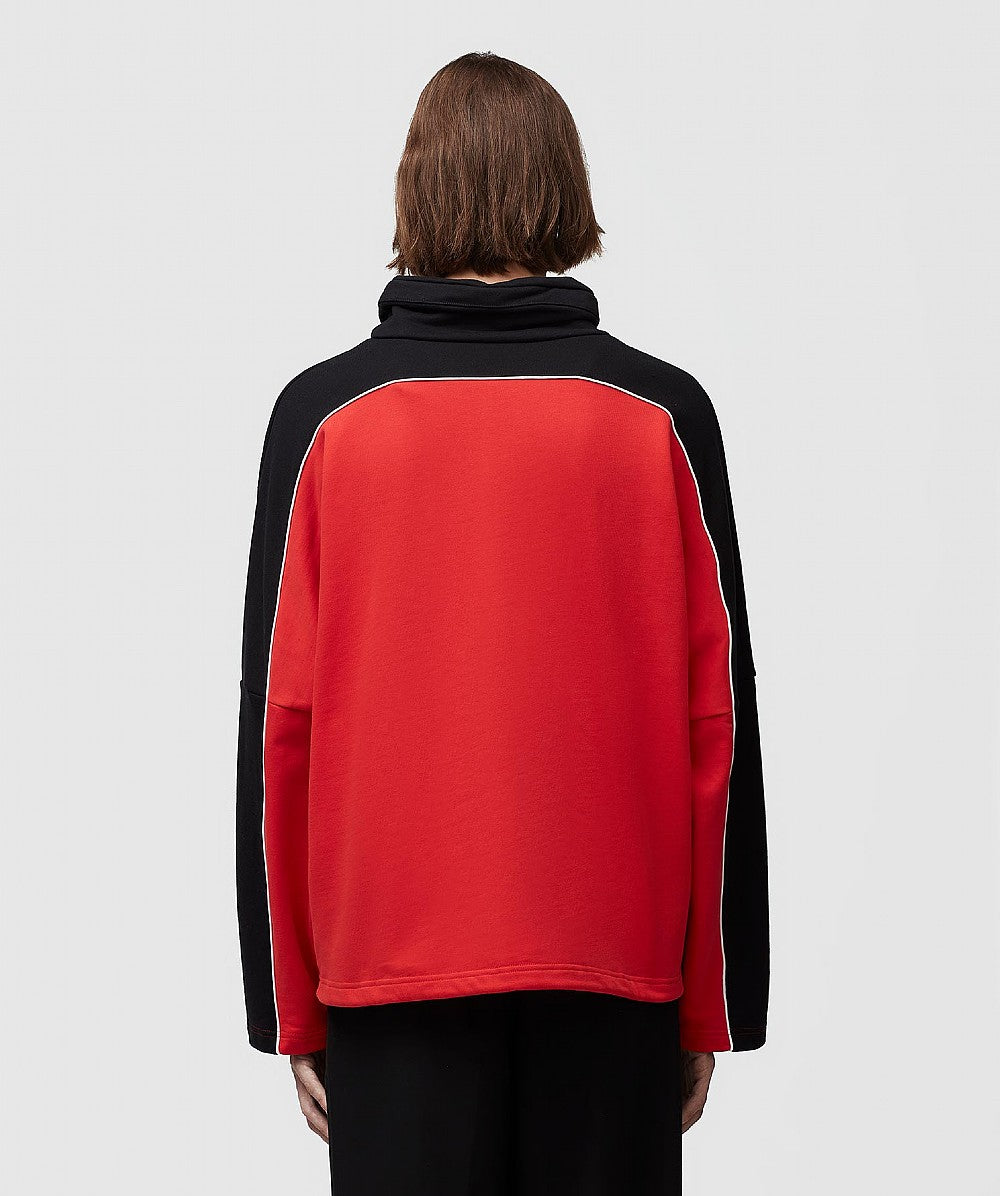 Red and Black Batwing Jersey Sweatshirt
