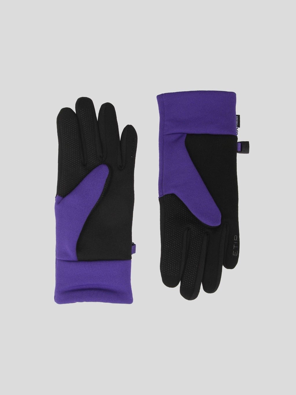 Purple & Black W Etip Recycled Gloves
