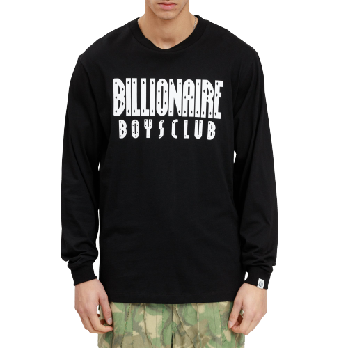 Black Standing Astronaut Long Sleeve Tee