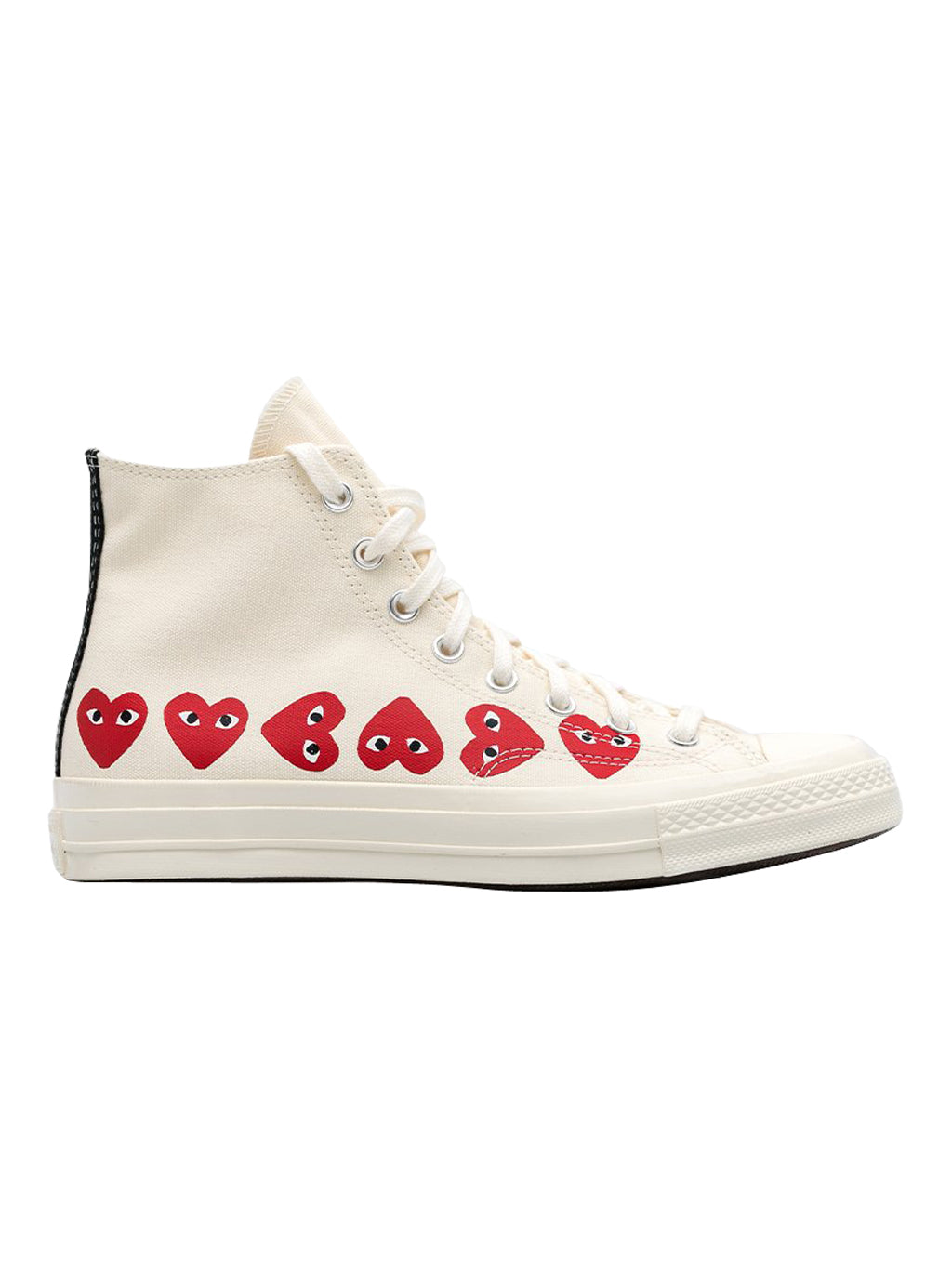 Ivory Converse Red Multi-Heart Chuck 70 Sneakers
