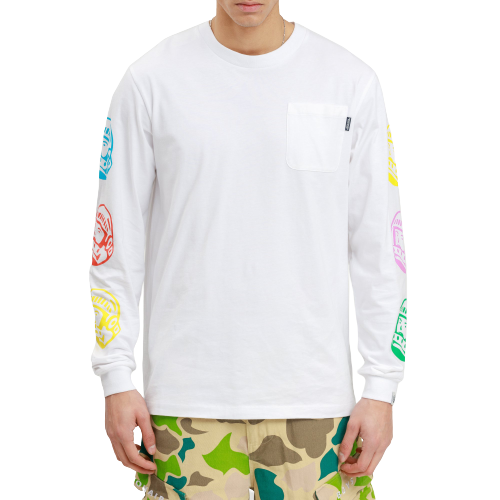 White Repeat Astro LS Tee