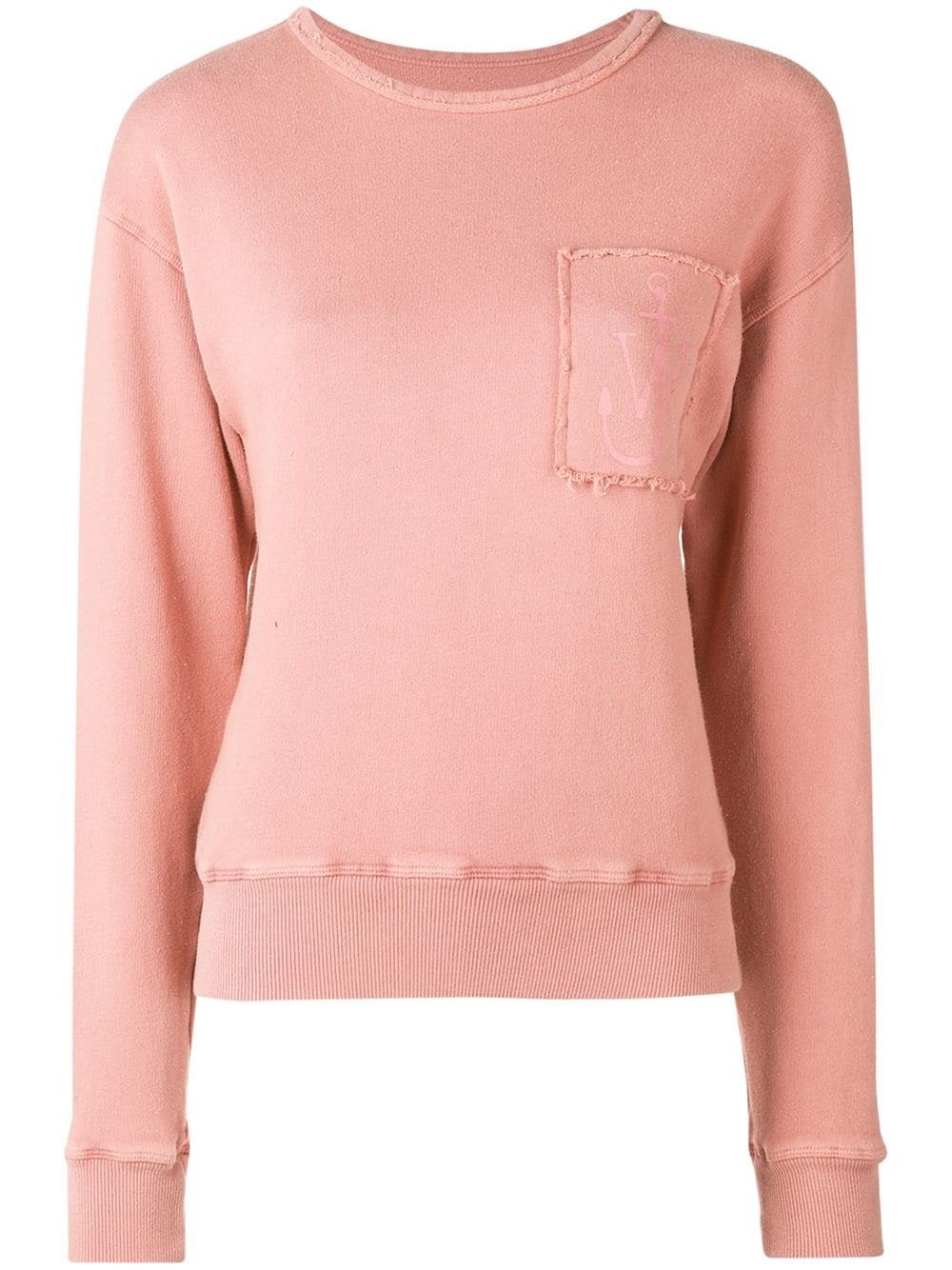 Pink Anchor Patch Sweatshirt