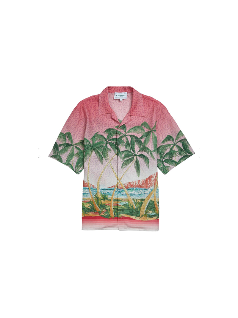 Rose A Maui Silk Short Sleeve Printed Shirt