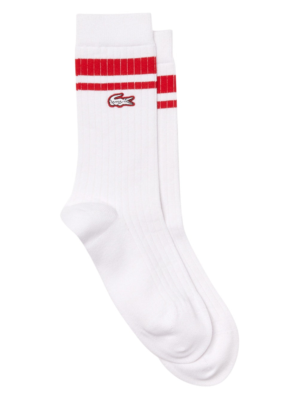 White Red x Ricky Regal Striped Ribbed Long Socks