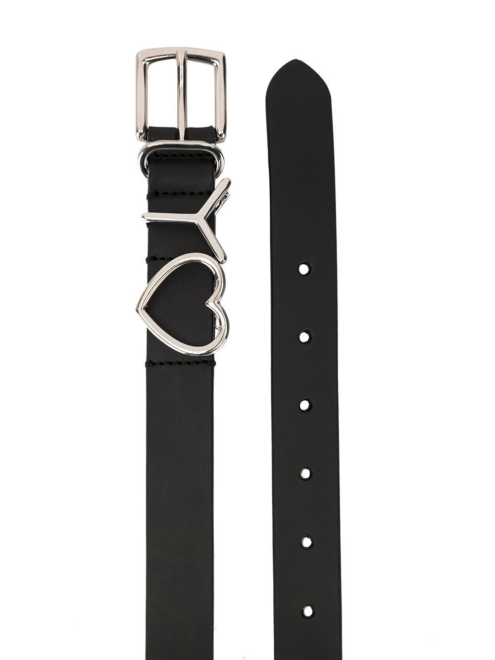 Black Y Heart 25MM Belt
