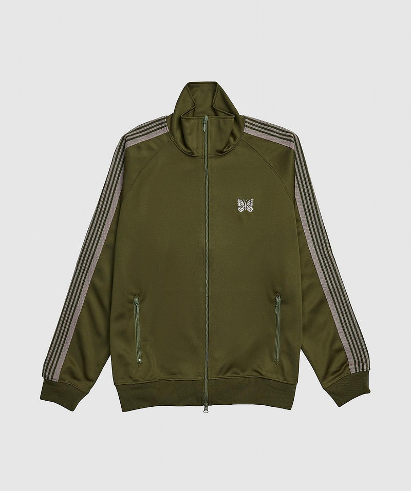 Grey or Green Poly Smooth Track Jacket
