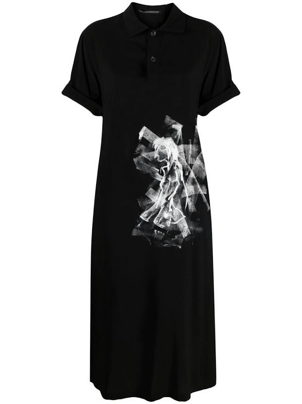Black Back Open Short Sleeve Dress