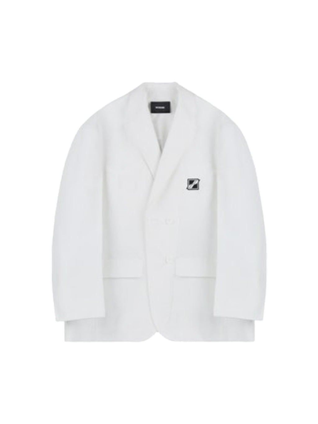 White Wappen Logo Single Breasted Jacket