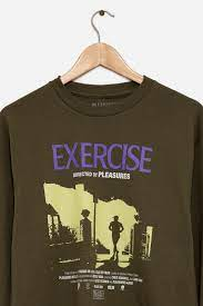 Olive Exercise Long Sleeve T-Shirt