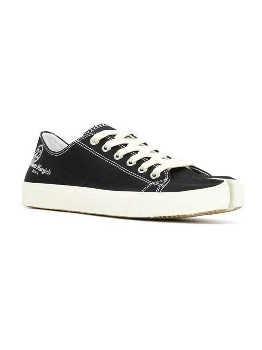Black Canvas Tabi Sneakers