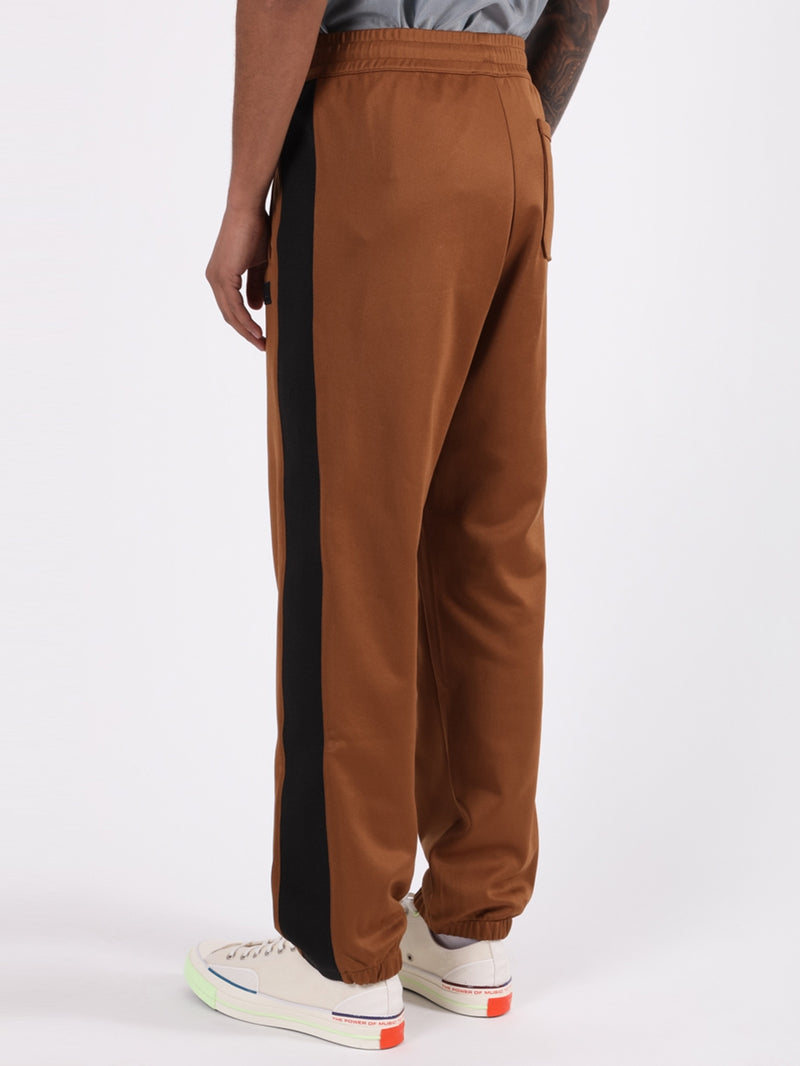 Brown Face Logo Track Pants