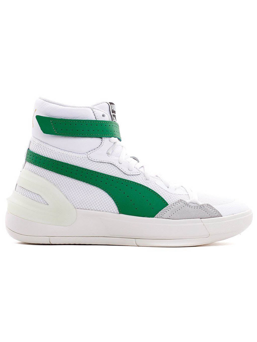 White & Green Sky Modern Sneakers