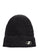 Black Embroidered Metal Logo Long Beanie thumbnail 1