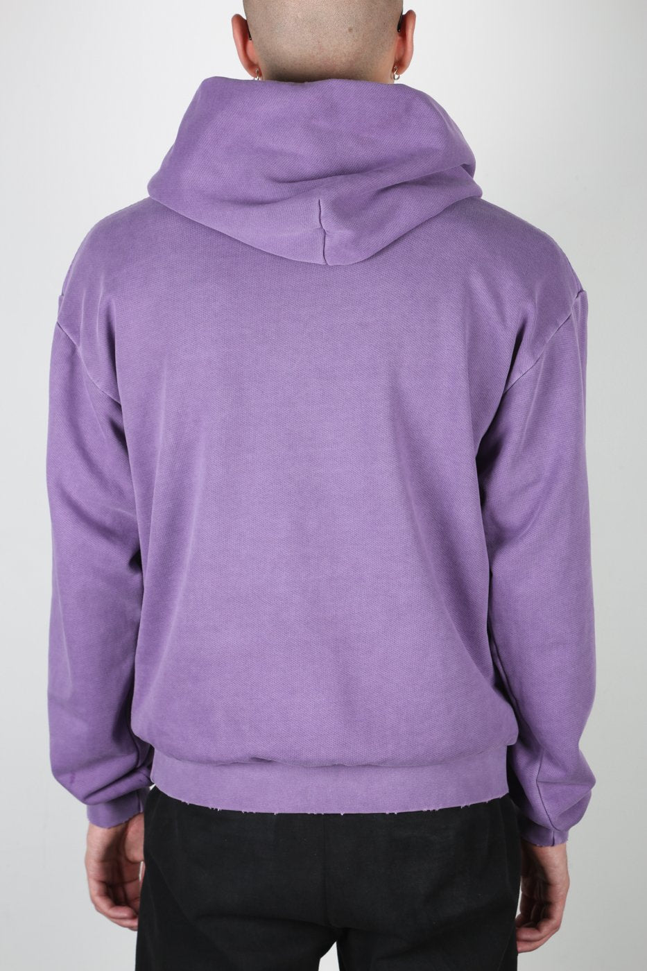 Purple Distressed Hoodie