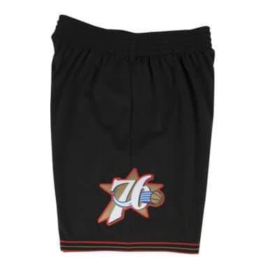 Black NBA Philadelphia 76ers Swingman Shorts