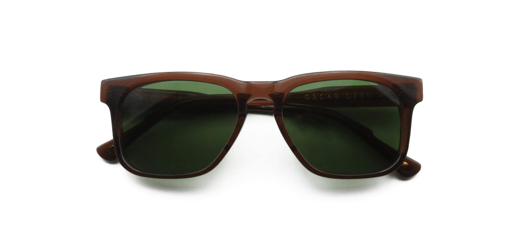 Green & Brown Carril Bottle Sunglasses