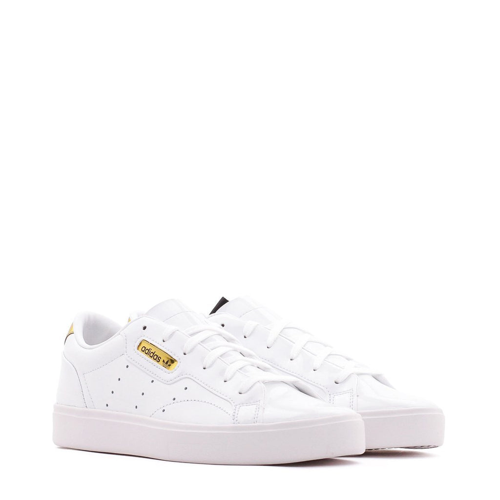 White & Gold Sleek Sneakers