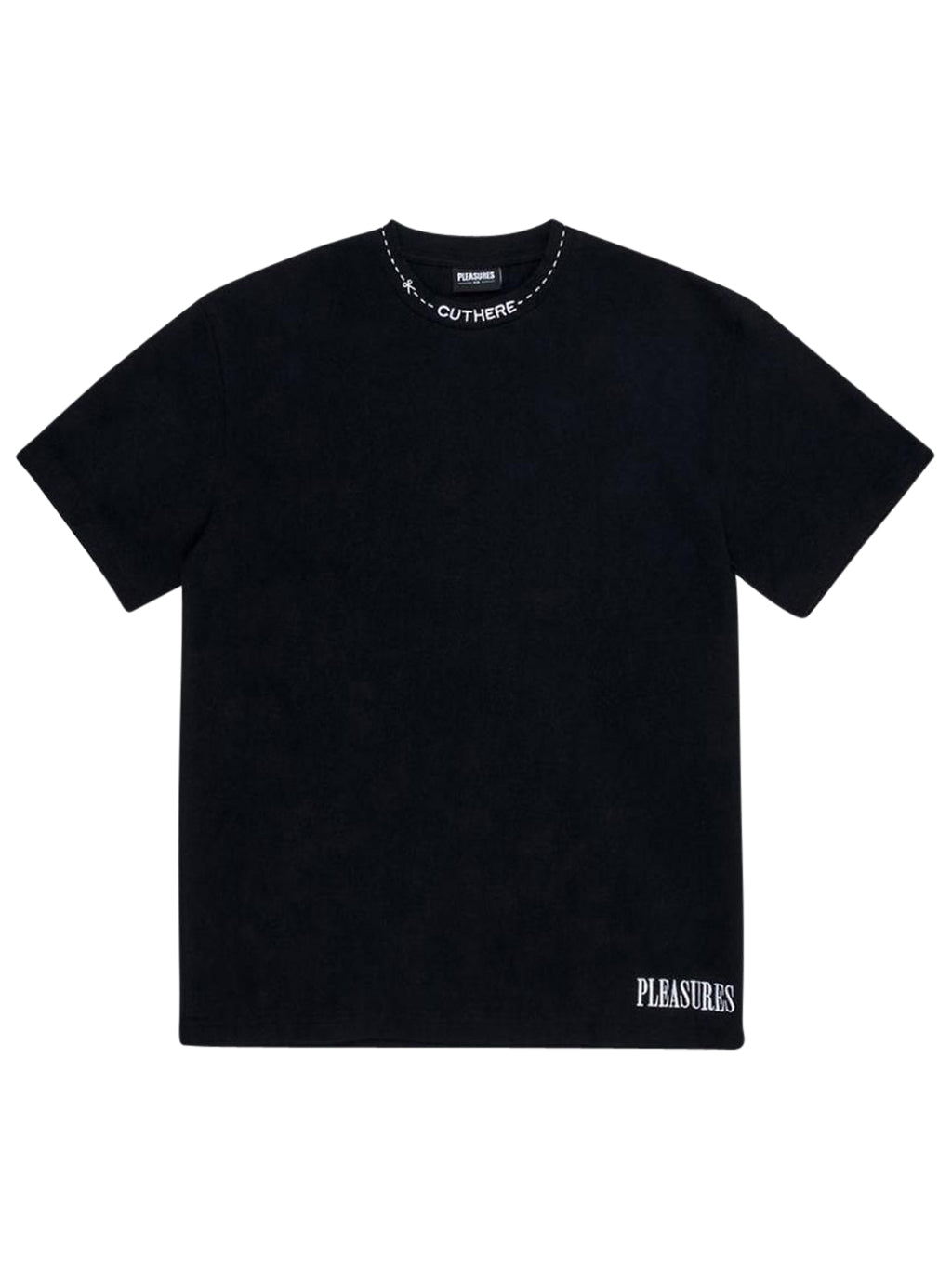 Black Cut Here Heavy Weight T-Shirt