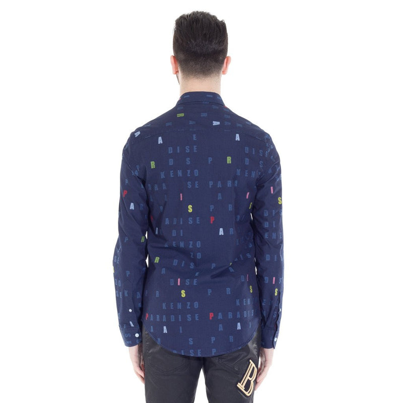 Navy Alphabets Printed Shirt