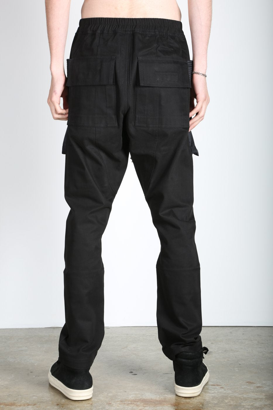 Black Creatch Cargo Pants