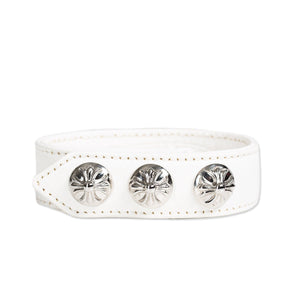 Silver CH Plus Leather Bracelet