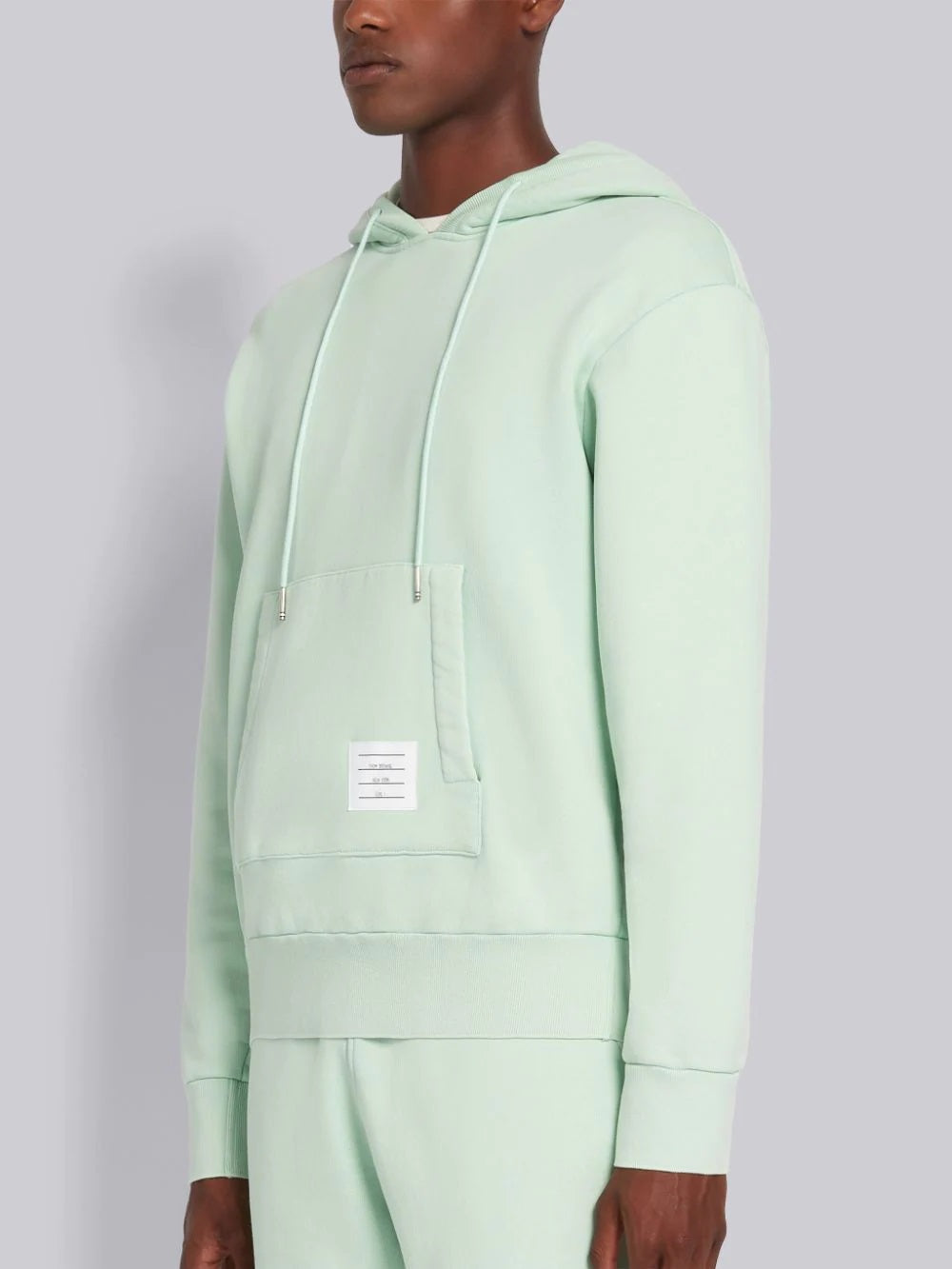 Light Green Garment Dyed Hoodie Pullover