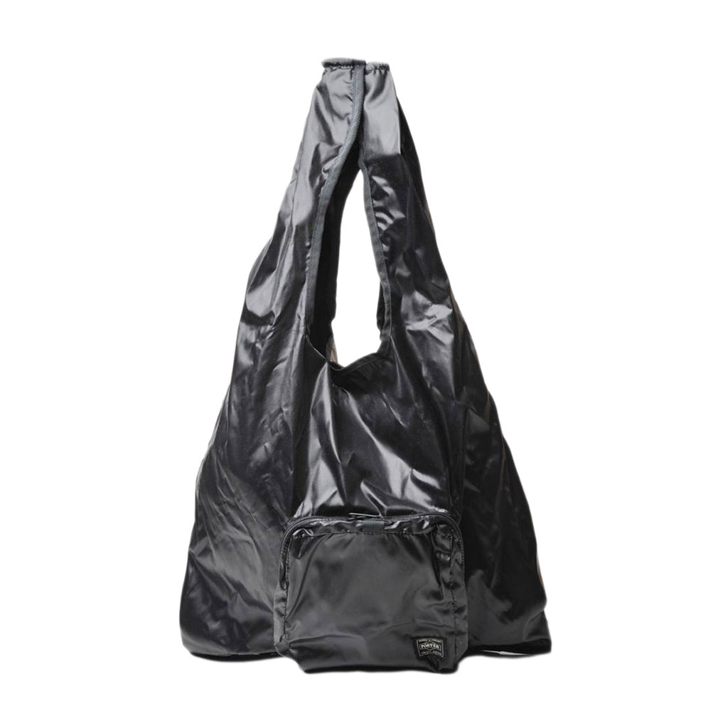 Black Snack Pack Packable Fold Up Travel Tote