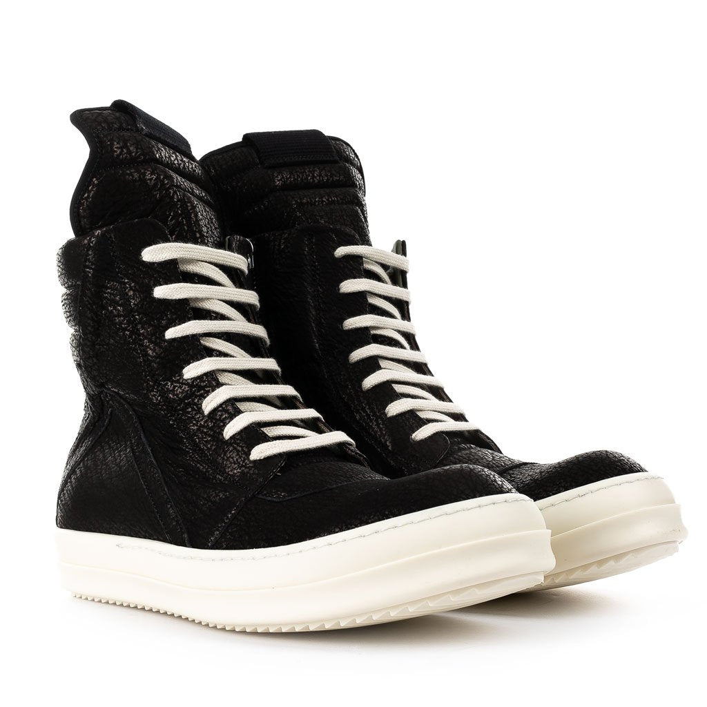 Black Geobasket High-Top Sneakers