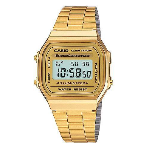 Gold Classic Collection Digital Metal A168WG-9VT Watch