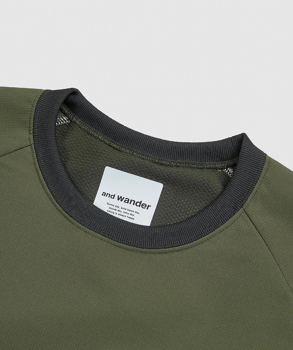 Khaki Hybrid Base Layer Long Sleeve T-Shirt
