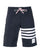 Navy Classic Four Bar Solid Tech Swim Shorts thumbnail 1