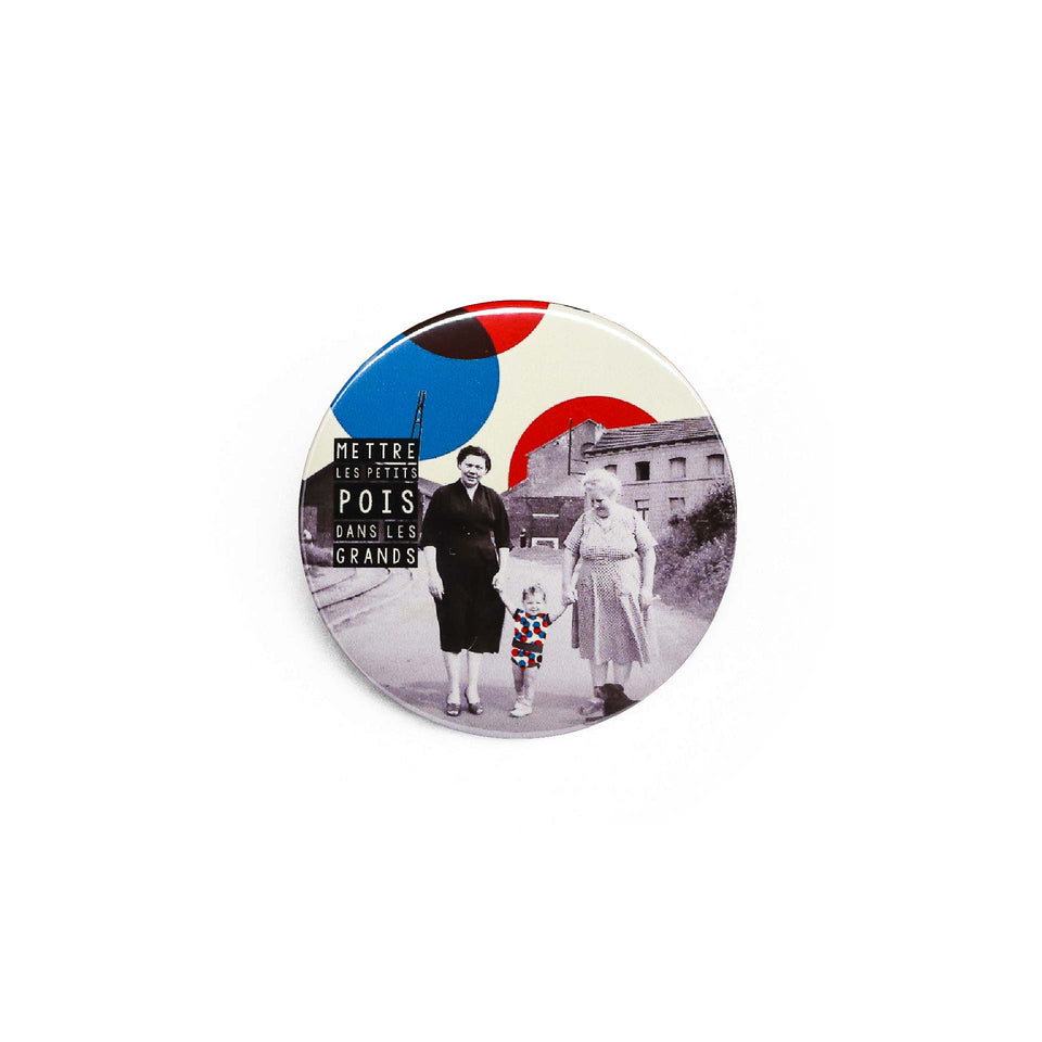 Badge et magnet Pois de Red Orb Creations