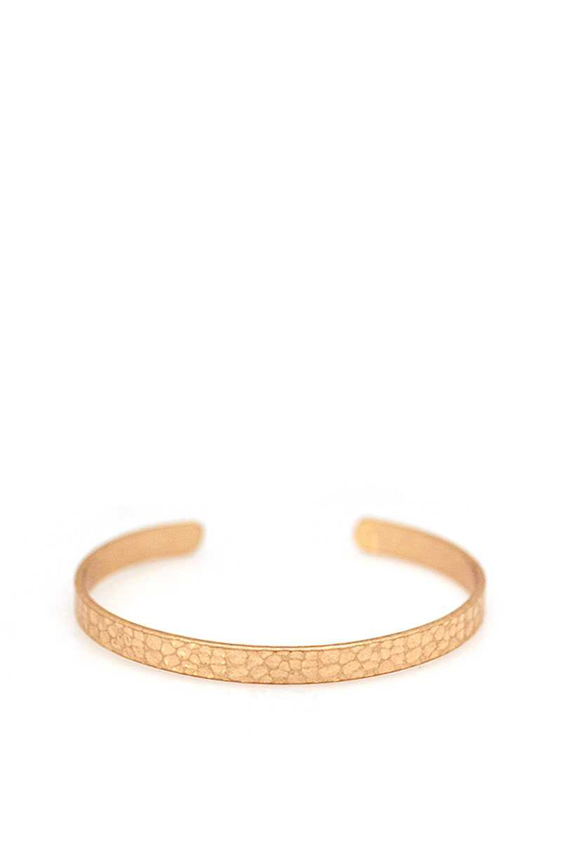 Designer Thin Brass Satin Bangle Bracelet