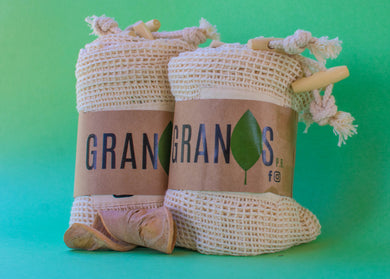 Organic cotton mesh bags pack