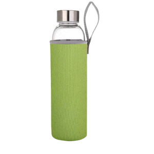 Reusable High Borosolicate Glass Water Bottle