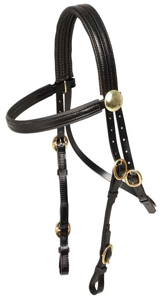 ZILCO RACE BRIDLE - BRASS