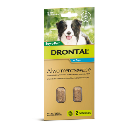 DRONTAL ALLOWRMER CHEWABLE 10KG - 2 PACK
