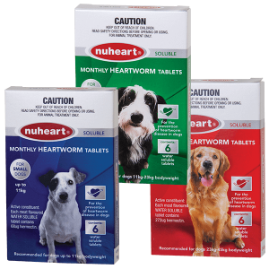 NUHEART MONTHLY HERATWORM TABLETS 6 PACK