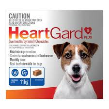 HEARTGUARD BLUE DOGS UP TO 11KG - 6 PACK