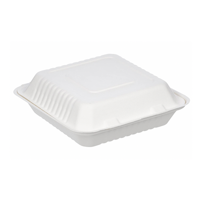 8 x 8 inch 3-C Compostable Takeout Container