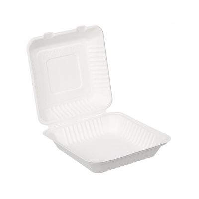 8 x 8 inch Compostable Takeout Container