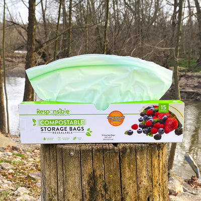 Resealable Zip Compostable Food Storage Bags