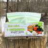 "Quart Resealable Zip Compostable Food Storage Bags (7"" x 7.4"")"