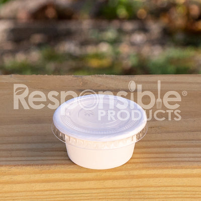 2 oz Compostable Portion Cup Lid
