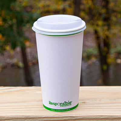 Compostable Hot Cup Lid (Fits 12-20 oz Cups)