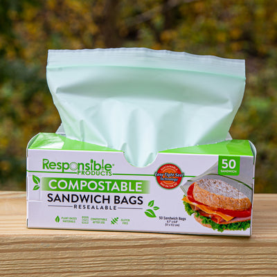 The Ultimate Resealable Zip Compostable Food Bag Bundle Pack (4 Boxes of Each Size)