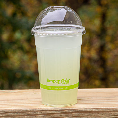 Compostable Clear Cup Dome Lid