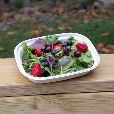 32 oz Compostable Sugarcane Rectangle Bowl