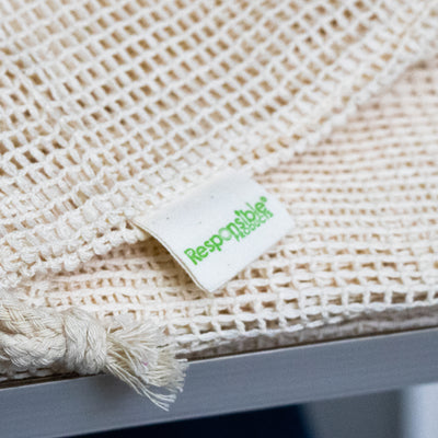 100% Natural Cotton Produce Bags (Reuseable)