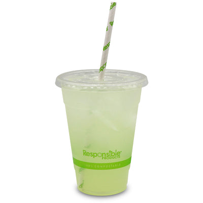 Compostable Clear Cup Flat Lid